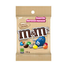 M&M's Almond Chocolate Peg Top 110g 24's