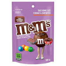 M&M's Fudge Brownie Stand Up Pack 185g, 15 per box