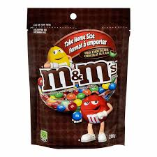 M&M's Milk Chocolate Stand Up Pack 200g 15's
