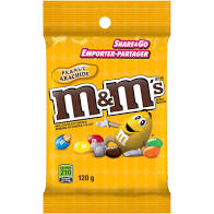 M&M's Peanuts Peg Top 120g 24's