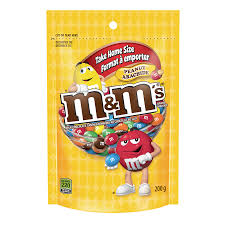 M&M's Peanuts Stand Up Pack 200g 15's