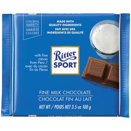 Ritter Sport Milk Chocolate 100g 12's