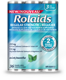 Rolaids regular strength mint 3 rolls x 12 per box, 2 boxes per case