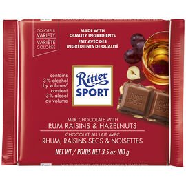 Ritter Sport Rum Raisin with Hazelnuts 100g 12's