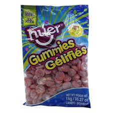 Huer Sour Cherry Slices bulk candy 1kg bag
