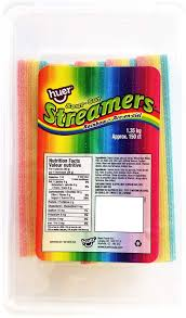 Huer Sour rainbow Streamers 1.36kg, Candy, Huer, [variant_title] - Tevan Enterprises