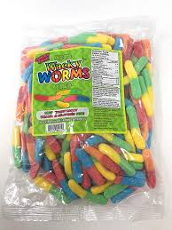 Gummy Zone Sour Wacky Worms bulk 1kg 12/case, Bulk Candy, Morris National, [variant_title] - Tevan Enterprises