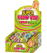 Charms Super Blow Pops Sweet n Sour 32g 12/36