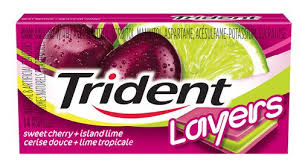 Trident Layers Cherry Lime 14pc, 12's