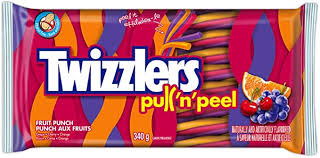 Twizzler Pull-n-Peel Fruit Punch Party Pack 396g 12s