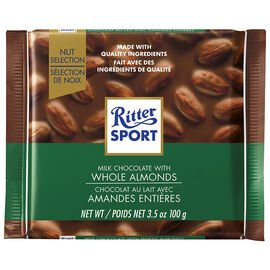 Ritter Sport Milk Whole Almond 100g 11's