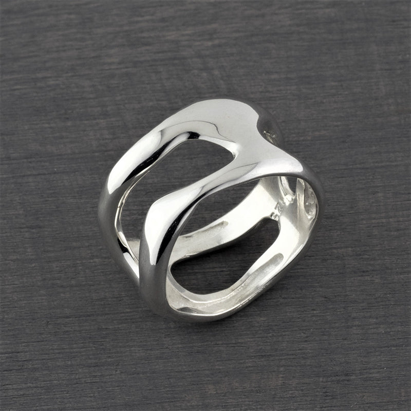 cut out sterling silver ring