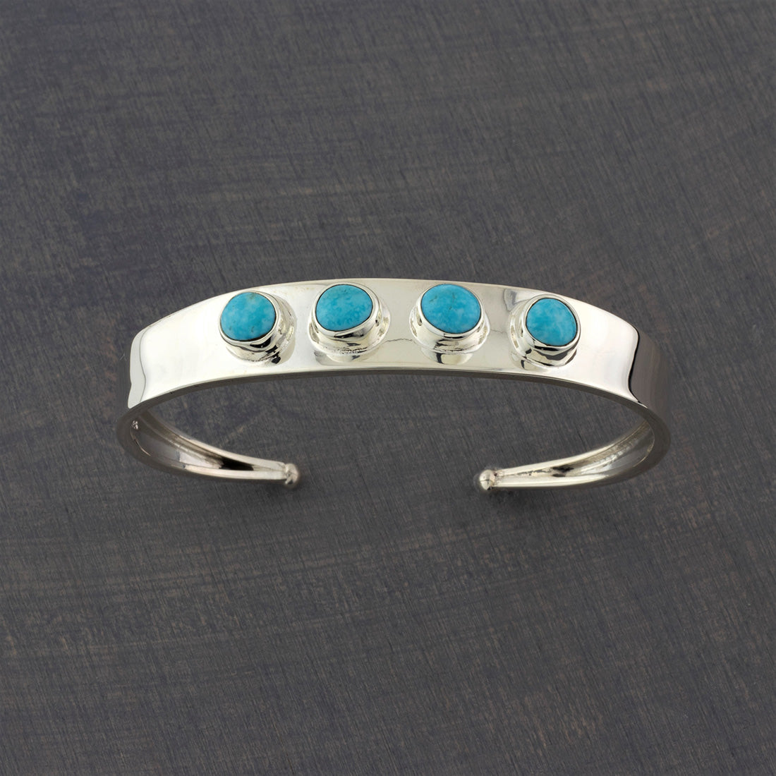 multi stone turquoise and silver cuff bracelet