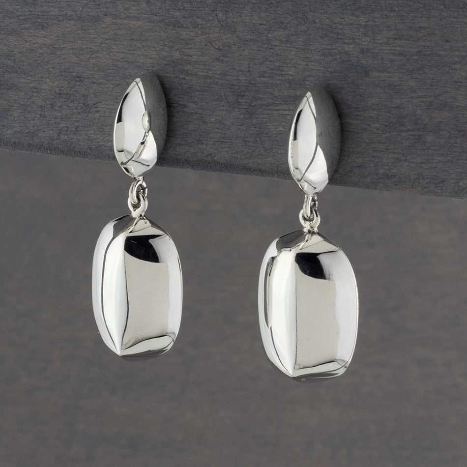 post dangle earrings in sterling silver