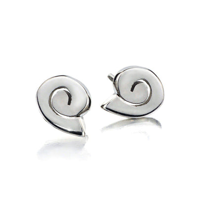 Tiny Spiral Sterling Silver Stud Earrings