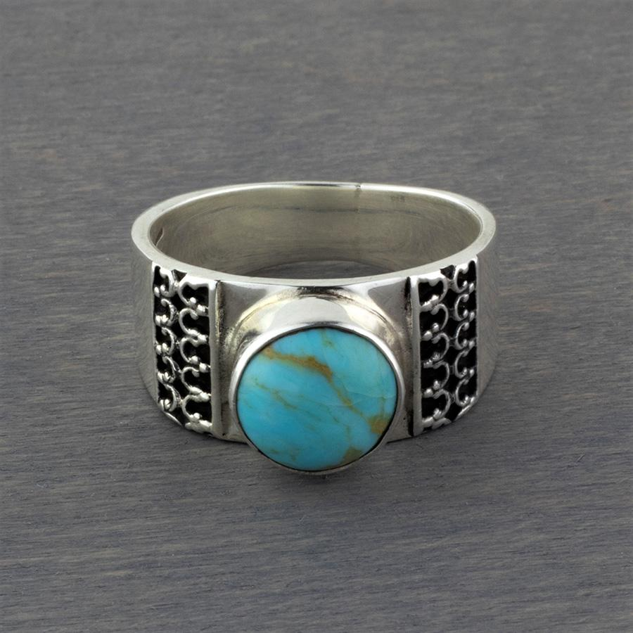 unique turquoise sterling silver ring
