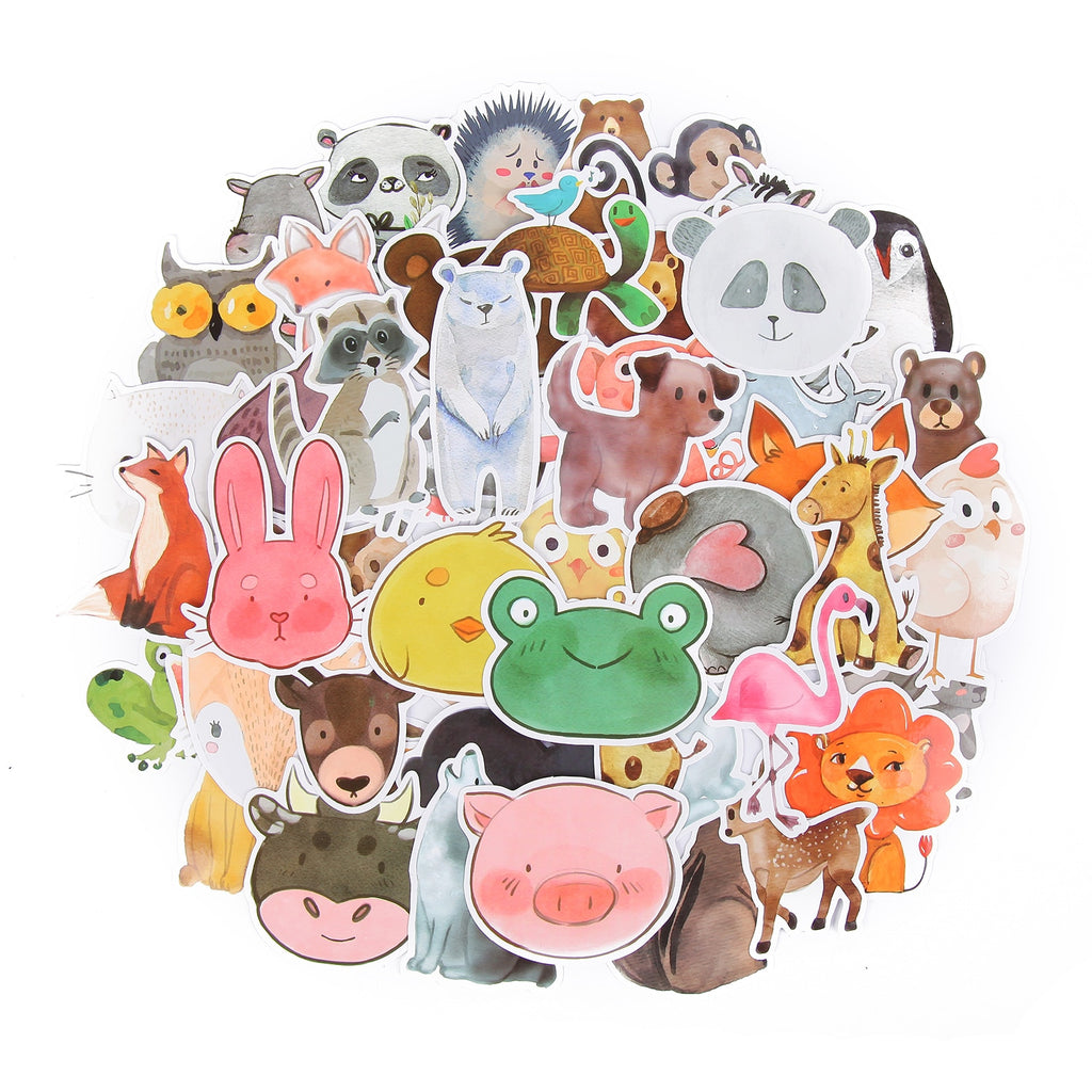Animal Face Stickers. Farm Animals Stickers. Wild Animal Stickers. Dog Stickers. (50 count)