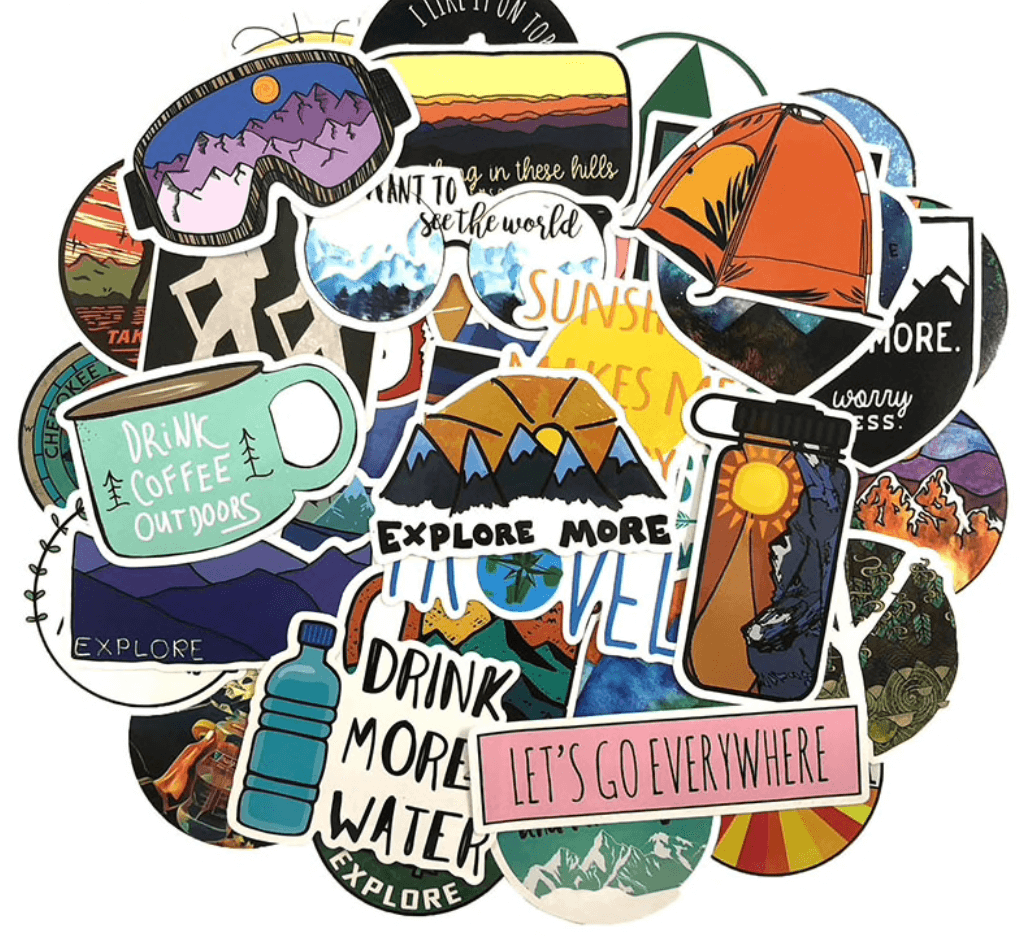 Travel Stickers. Outdoor Stickers. Camping Stickers. (50 count)