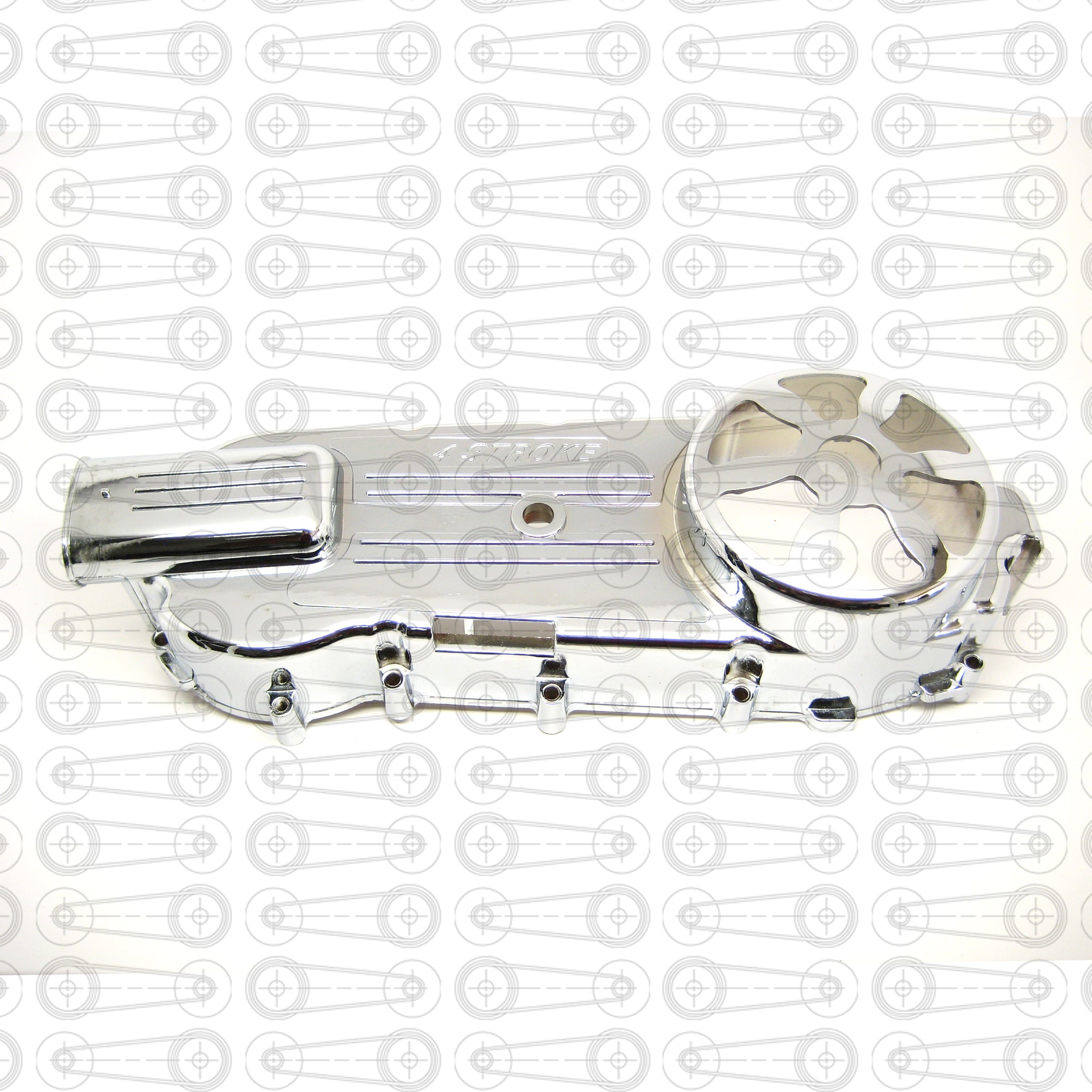 CHROME - VENTED LONG CASE CVT COVER (GY6)