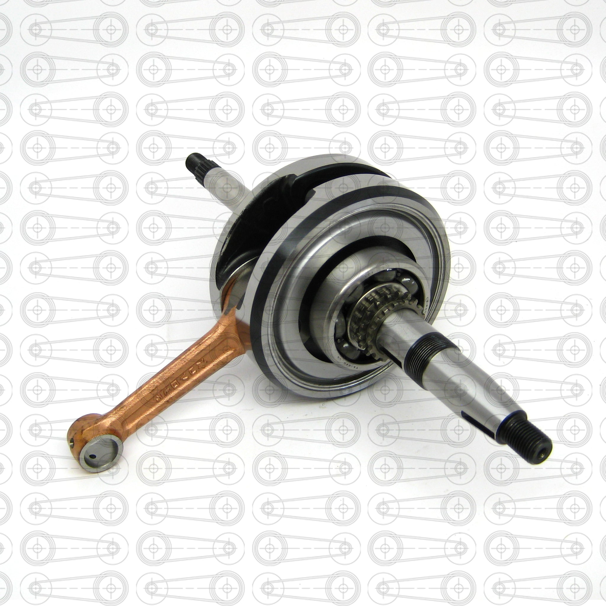 TAIDA -  66mm  EXTENDED CRANKSHAFT (GY6)