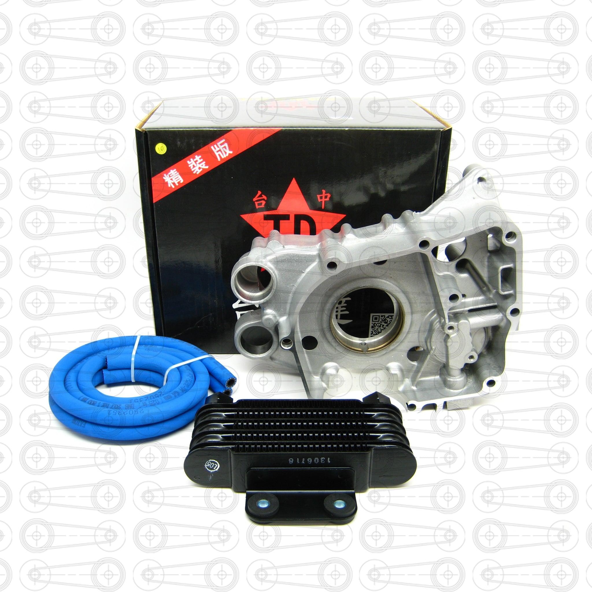TAIDA - OIL COOLER/CRANK CASE KIT (GY6)