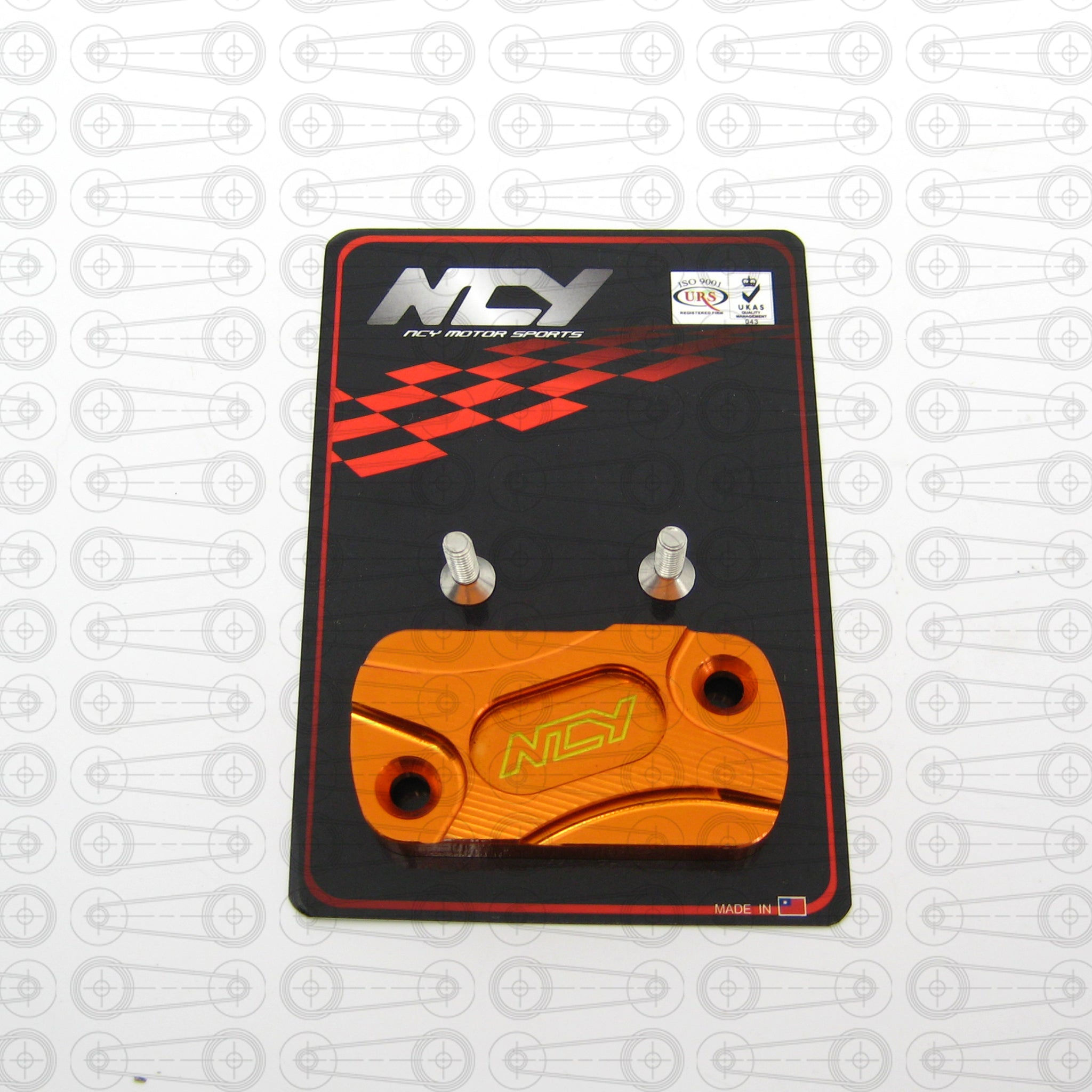 NCY -  ORANGE ANODIZED MASTER CYLINDER CAP (DIO/GY6)