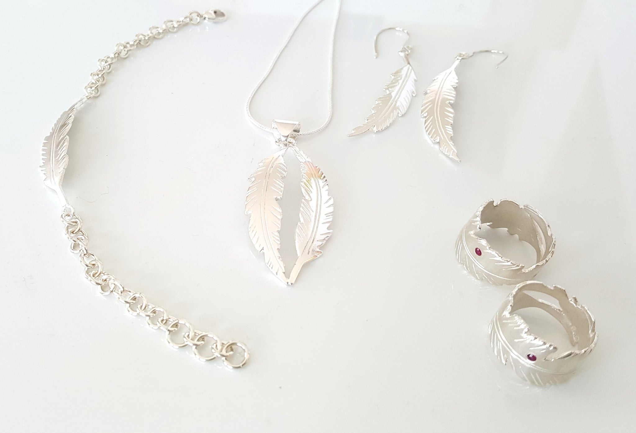 Sterling Silver Feather Jewellery
