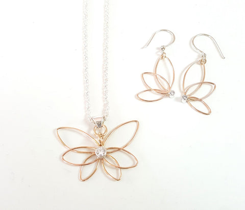 Golden Butterflies Jewellery