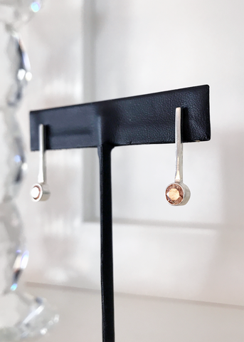 Cubic Drop Earrings