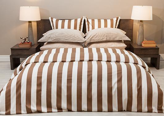 "Cuddledown Fine Bed Linens ""The Monaco Collection in Cinnamon"""