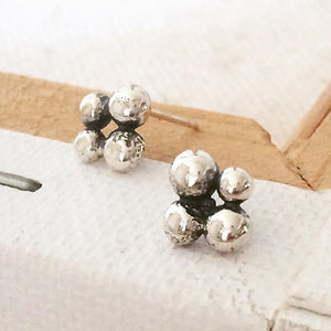 Caviar Cluster Stud Earrings