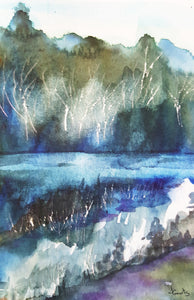 Abstract watercolour painting limited edition print by Jane Geurts