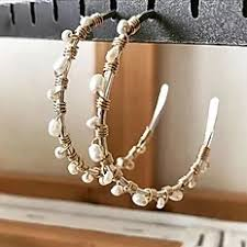 Gold-Fill and Pearl Wrapped Hoops