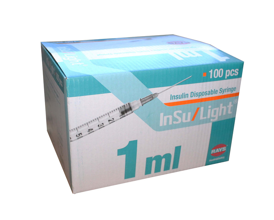 1ml insulin syringe and needle box for sale in UK