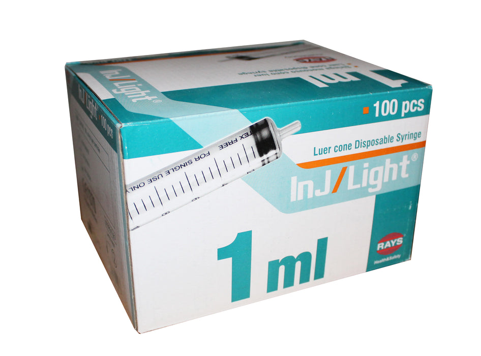 1ml syringe box of 100 uk
