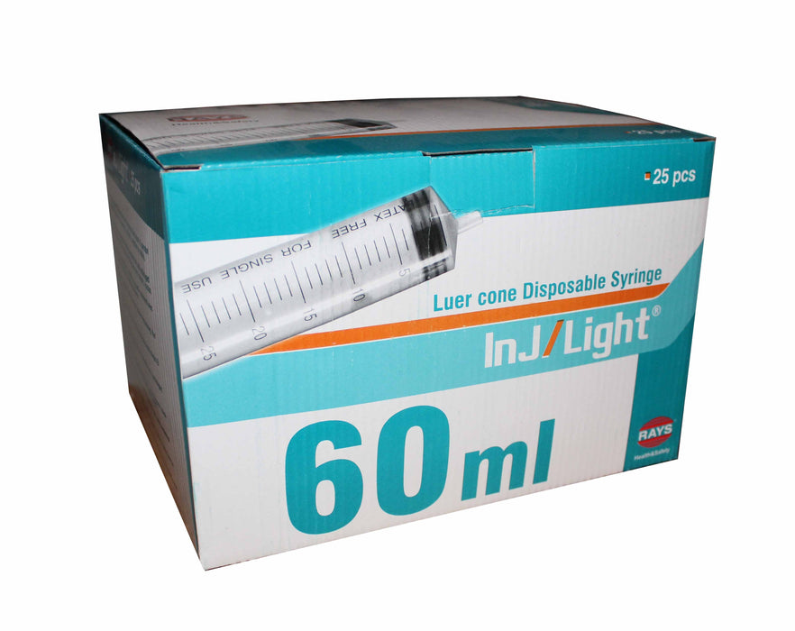 eccentric syringes 60ml box of 25 sold in UK