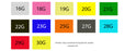 hypodermic needle injection colors