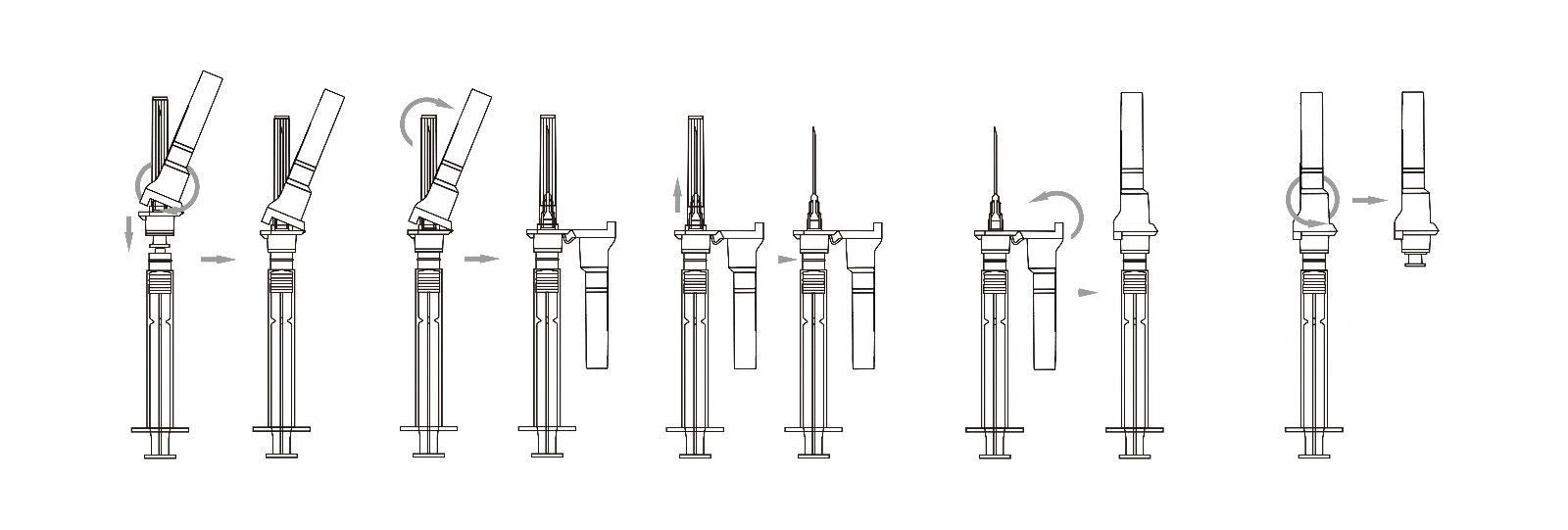 how to use syringe & needles safety feature Rays