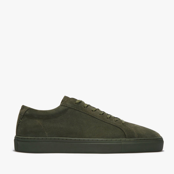 Mens Uniform Standard Series 1 Triple Moss Suede Minimal Sneaker Trainer