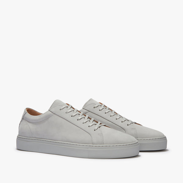 Uniform Standard Series 1 Light Grey Nubuck Minimal Leather Sneaker