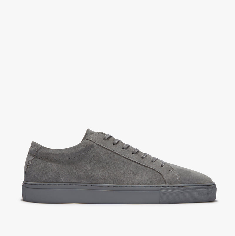 Uniform Standard Series 1 Triple Grey Suede Minimal Leather Sneaker