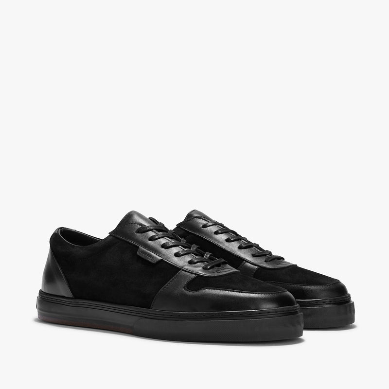 Uniform Standard Series 6 Black Minimal Leather Sneaker
