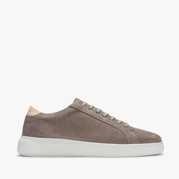 Uniform Standard Series 8 Taupe Nubuck Leather Minimal Sneaker