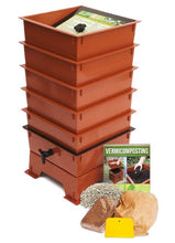 Load image into Gallery viewer, Worm Factory DS5TT 5-Tray Worm Composter, Terra Cotta