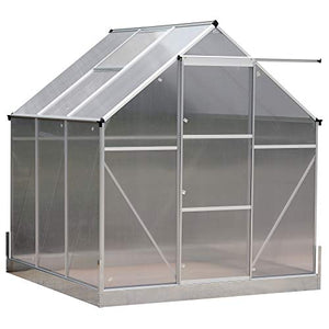 Outsunny 6.25' L x 6.25' W Portable Outdoor Walk-in Garden Greenhouse Planter