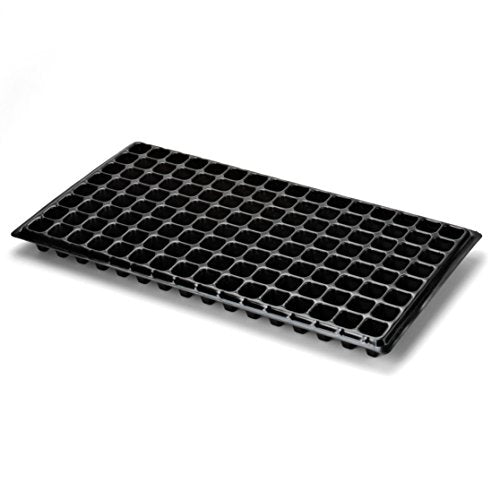 128 Cell Seed Starter Tray - Extra Strength, 5 Pack, Seedling Trays for Starting Plantings Propagation, Germination 1020 Plug Station by Bootstrap Farmer