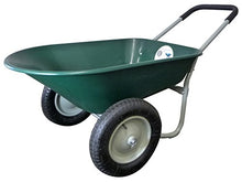 Load image into Gallery viewer, Marathon Dual-Wheel Residential Yard Rover Wheelbarrow and Yard Cart - Green