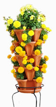 Load image into Gallery viewer, 5 Tier Stackable Strawberry, Herb, Flower, and Vegetable Planter - Vertical Garden Indoor / Outdoor