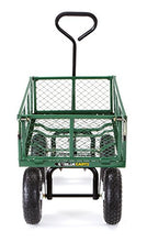 Load image into Gallery viewer, Gorilla Carts GOR400-COM Steel Garden Cart with Removable Sides, 400-lbs. Capacity, Green