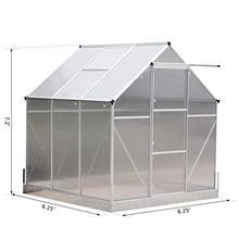 Load image into Gallery viewer, Outsunny 6.25' L x 6.25' W Portable Outdoor Walk-in Garden Greenhouse Planter